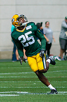 Green Bay Packers safety Marwin Evans (25)during a training camp practice on August 29, 2017 at Ray Nitschke Field in Green Bay, Wisconsin.   (Brad Krause/Krause Sports Photography)