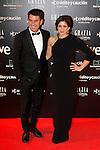 Lucia Jimenez and Arturo Valls attend Goya Cinema Awards 2014 red carpet at Centro de Congresos Principe Felipe on February 9, 2014 in Madrid, Spain. (ALTERPHOTOS/Victor Blanco)