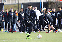 Sebastien Haller (Eintracht Frankfurt) - 20.02.2019: Eintracht Frankfurt Training, UEFA Europa League, Commerzbank Arena, DISCLAIMER: DFL regulations prohibit any use of photographs as image sequences and/or quasi-video.