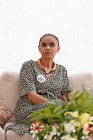 ATENÇÃO EDITOR: FOTO EMBARGADA PARA VEÍCULOS INTERNACIONAIS. SAO PAULO SP, 30 DE SETEMBRO DE 2012. ELEICAO 2012 - CAMPANHA SONINHA FRANCINE. A ex senadora Marina Silva, durante encontro para mobilizacao em torno da candidatura de Ricardo Young para vereador de Sao Paulo, na tarde deste domingo na Vila Madalena, zona oeste da capital paulista. FOTO ADRIANA SPACA/BRAZIL PHOTO PRESS