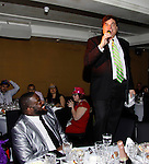 Singer Phillip Boykin and friends listen to Dale Badway as he sings and hosts New Year's Eve 2016 and Times Square Ball Drop at The Copacabana, New York City, New York. (Photo by Sue Coflin/Max Photos)  suemax13@optonline.net