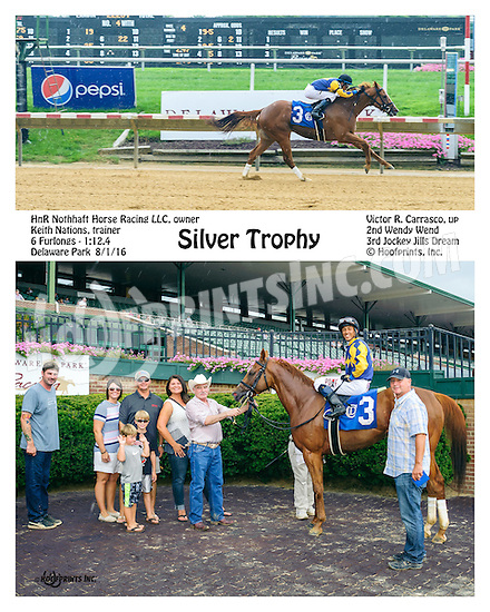 Silver Trophy winning at Delaware Park on 8/1/16