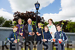 Knockaderry National School Growing flowers for Farranfore Tidy Towns  Front l-r Colin Callaghan, Alacoque Daly,tidy town's volunteer,John O'Donoghue,Chairman Farranfore tidy town's, Agne Arlauskaite, Principal Aine Daly and Luke ring