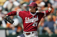 Stanford pitcher Jeremy Bleich in 2007 (Photo by Andrew Woolley / Four Seam Images)