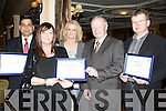 CERT: Showing off their certificates at the Bon Secour Annaul social in Ballygarry House Hotel & Spa, Tralee on Sunday night. Front l-r: Ann Drury and Michael Ellard. Back l-r: Dr Muhammad Gohar Yousaf,kate Quirke and Ger Mahony............. ....