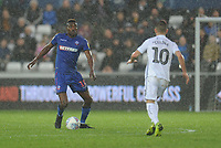 Bolton Wanderers' Sammy Ameobi under pressure from Swansea City's Bersant Celina<br /> <br /> Photographer Kevin Barnes/CameraSport<br /> <br /> The EFL Sky Bet Championship - Swansea City v Bolton Wanderers - Saturday 2nd March 2019 - Liberty Stadium - Swansea<br /> <br /> World Copyright © 2019 CameraSport. All rights reserved. 43 Linden Ave. Countesthorpe. Leicester. England. LE8 5PG - Tel: +44 (0) 116 277 4147 - admin@camerasport.com - www.camerasport.com