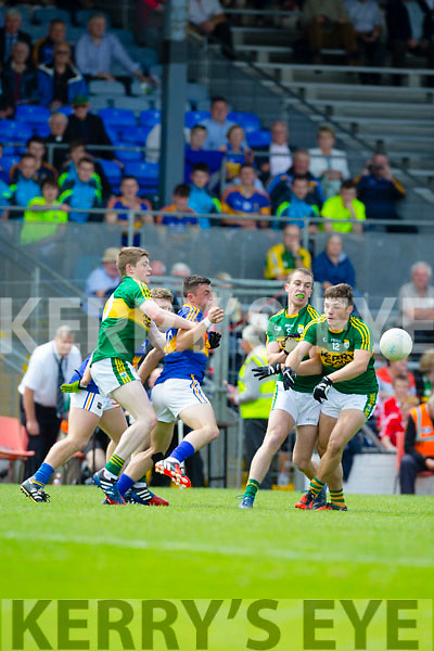 Andrew Barry, Kerry in Action against  Tipperary in the Munster Minor Football Final at Fitzgerald Stadium on Sunday.