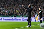 08.03.2019, Weserstadion, Bremen, GER, 1.FBL, Werder Bremen vs FC Schalke 04<br /> <br /> DFL REGULATIONS PROHIBIT ANY USE OF PHOTOGRAPHS AS IMAGE SEQUENCES AND/OR QUASI-VIDEO.<br /> <br /> im Bild / picture shows<br /> Domenico Tedesco (Trainer FC Schalke 04) mit Anweisungen in Coachingzone / an Seitenlinie, <br /> <br /> Foto &copy; nordphoto / Ewert