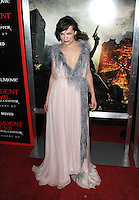 www.acepixs.com<br /> <br /> January 23 2017, LA<br /> <br /> Actress Milla Jovovich arriving at the premiere of 'Resident Evil: The Final Chapter' at the Regal LA Live on January 23, 2017 in Los Angeles, California.<br /> <br /> By Line: Peter West/ACE Pictures<br /> <br /> <br /> ACE Pictures Inc<br /> Tel: 6467670430<br /> Email: info@acepixs.com<br /> www.acepixs.com