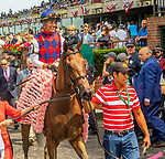 JUNE 08, 2019 : Guarana with Jose Ortiz, wins the Acorn, at Belmont Park, in Elmont, NY, June 8, 2019.  Sue Kawczynski_ESW_CSM