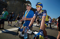 Alberto Contador (ESP) after the finish<br /> stage 10: Saint-Gildas-des-Bois to Saint-Malo<br /> 197km