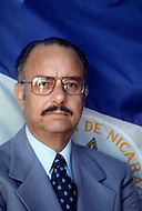 Managua, Nicaragua. March 1, 1978. The president Anastasio Somoza poses for an official portrait in front of the Nicaraguan flag. Nicaraguan dictator Anastasio Somoza, who took over from his father Anastasio Somoza Garcia, then his eldest brother Luis, after the latter assassinated their father, ruled as President of Nicaragua between 1967-1972 and again in 1974, until the Sandinista revolution in 1979, which finally put an end to the dictatorial regime of the Somoza family.