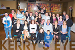 21ST BIRTHDAY: Michael O'Beirne, Castleisland (seated centre) having a great time celebrating his 21st birthday with a large group of family and friends at the Grand hotel, Tralee on Friday..