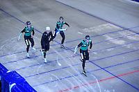 SCHAATSEN: HEERENVEEN: Thialf, 07-06-2012, Zomerijs, Jan Blokhuijsen, Koen Verweij, Douwe de Vries, Sven Kramer, Team Pursuit training, ©foto Martin de Jong