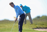 It would be nice if marshals actually did their job and stay out of images. Th golfer is Felix Kvarnstrom (SWE-AM) during Round Two of the 2015 Nordea Masters at the PGA Sweden National, Bara, Malmo, Sweden. 05/06/2015. Picture David Lloyd | www.golffile.ie