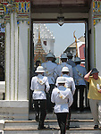 The Grand Palace,Bangkok, Thailand. Palace guards.