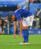 FUSSBALL EURO 2016 VIERTELFINALE IN BORDEAUX Deutschland - Italien      02.07.2016 Graziano Pelle (Italien)