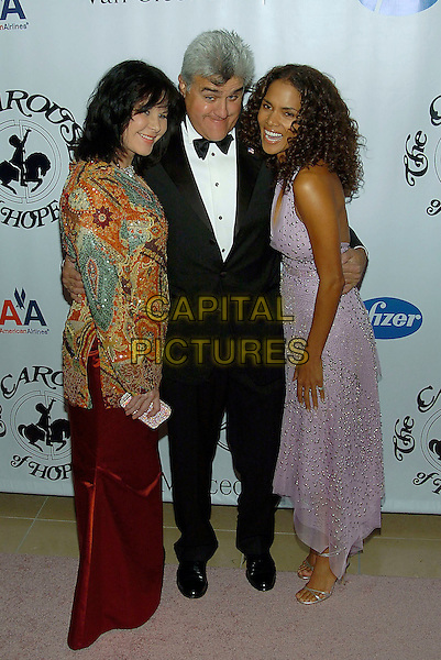 MAVIS LENO, JAY LENO & HALLE BERRY.16th Annual Carousel Of Hope Gala Presented By Mercedes-Benz held at Beverly Hills Hotel, Beverly Hills, California, USA, 23rd October 2004 ..full length lilac pale purple halterneck dress silver beads.**UK SALES ONLY**.Ref:ADM.www.capitalpictures.com.sales@capitalpictures.com.©Capital Pictures.