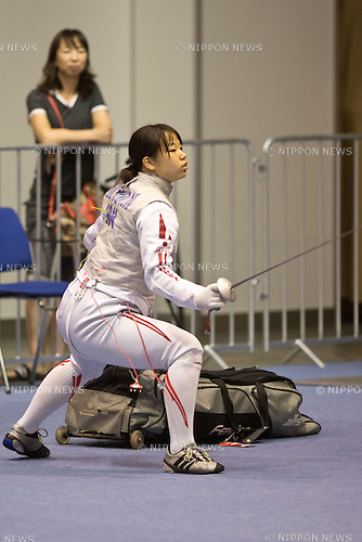 Minami Kano (JPN),<br /> AUGUST 5, 2013 - Fencing :<br /> World Fencing Championships Budapest 2013, Women's Individual Foil Qualifications at Syma Hall in Budapest, Hungary. (Photo by Enrico Calderoni/AFLO SPORT) [0391]