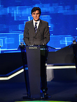 SAO PAULO, 02 de agosto de 2012. DEBATE BAND. O candidato do PMDB, Gabriel Chalita,  durante o debate promovido pela rede bandeirantes de tv. foto Adriana Spaca - Brazil Photo Press