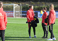 20200304  Parchal , Portugal : Belgian players with Lisa Lichtfus and Lola Wajnblum pictured during the female football game between the national teams of New Zealand , known as the Football Ferns and Belgium called the Red Flames on the first matchday of the Algarve Cup 2020 , a prestigious friendly womensoccer tournament in Portugal , on wednesday 4 th March 2020 in Parchal , Portugal . PHOTO SPORTPIX.BE   DAVID CATRY