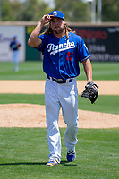 Rancho Cucamonga Quakes Stetson Allie (23) in action against the Visalia Rawhide at LoanMart Field on May 14, 2018 in Rancho Cucamonga, California. The Rawhide defeated the Quakes 5-0.  (Donn Parris/Four Seam Images)