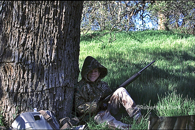 Young hunter on his first Turkey Hunt