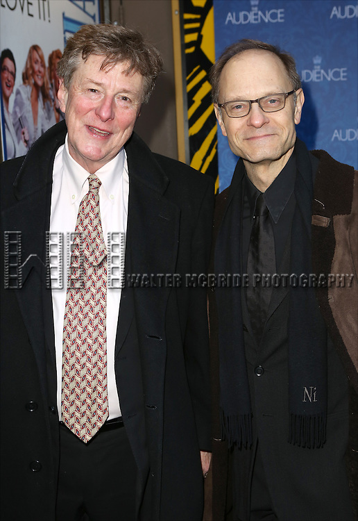 Brian Hargrove and David Hyde Pierce attends the Broadway Opening Night Performance of 'The Audience' at The Gerald Schoendeld Theatre on March 8, 2015 in New York City.