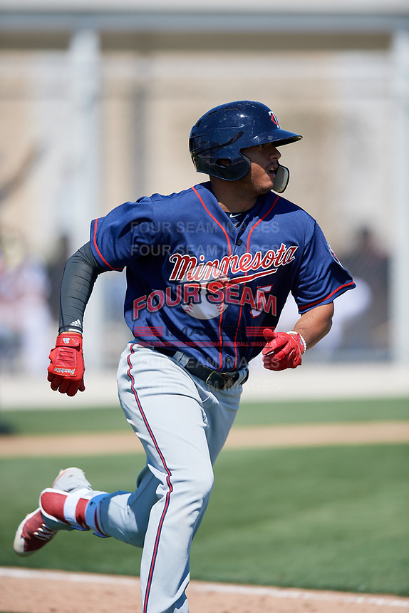 Minnesota Twins Ricky De La Torre (5) during a Minor League Spring Training game against the Tampa Bay Rays on March 15, 2018 at CenturyLink Sports Complex in Fort Myers, Florida.  (Mike Janes/Four Seam Images)