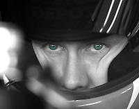 NASCAR Driver Carl Edwards in his car, at Atlanta, March 11, 2006, selective color. (Photo by Brian Cleary/www.bcpix.com)