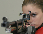 05/03/05.......Gary Wilcox/staff....... Nease High School junior Alex Shaffer is a national champion air rifle shooter and a possible future Olympian. But Shaffer, a Fruit Cove resident,