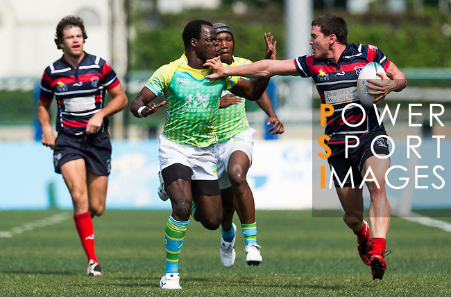 Borrelli Walsh Australian Country play Rwanda on Day 1 of the GFI HKFC Tens 2013 at the Hong Kong Football Club, Hong Kong. Photo by Aitor Alcalde / The Power of Sport Images