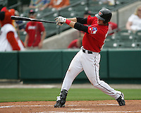 Frisco Rough Riders 3B Travis Metcalf during the 2007 AA Texas League Season. Photo by Andrew Woolley / Four Seam Images..