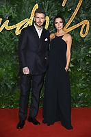 LONDON, UK. December 10, 2018: David Beckham &amp; Victoria Beckham at The Fashion Awards 2018 at the Royal Albert Hall, London.<br /> Picture: Steve Vas/Featureflash