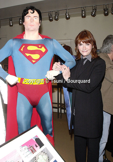 Margor Kidder posing  at the release on DVD of  Superman the Movie  during a ceremony at the Superman exhibit in Warner Studio Lot in Los Angeles  5/1/2001           -            KidderMargot02.jpg