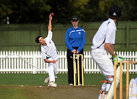 Action from the 2018 Junior NZ Secondary School Cricket Boys' Tournament match between St Andrew's College and Palmerston North Boys' High School at Fitzherbert Park in Palmerston North, New Zealand on Friday, 23 March 2018.. Photo: Dave Lintott / lintottphoto.co.nz