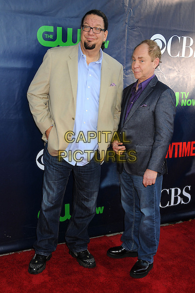 17 July 2014 - West Hollywood, California - Penn Jillette, Raymond Teller. CBS, CW, Showtime Summer Press Tour 2014 held at The Pacific Design Center. <br /> CAP/ADM/BP<br /> &copy;Byron Purvis/AdMedia/Capital Pictures