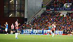 19.09.2019 Rangers v Feyenoord: Players stop on 2nd minute and applaud for Fernando Ricksen