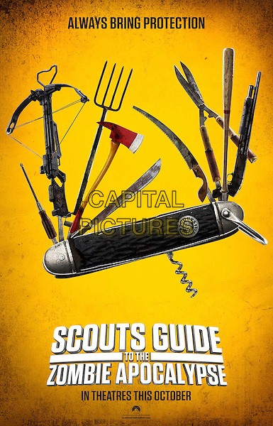 Scouts Guide to the Zombie Apocalypse (2015) <br /> POSTER ART<br /> *Filmstill - Editorial Use Only*<br /> CAP/FB<br /> Image supplied by Capital Pictures