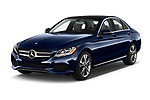2017 Mercedes Benz C Class 300 4 Door Sedan angular front stock photos of front three quarter view
