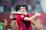 Guangzhou Forward Ricardo Goulart (L) celebrating his score with Guangzhou Forward Gao Lin (R) during the AFC Champions League 2017 Group G match between Guangzhou Evergrande FC (CHN) vs Suwon Samsung Bluewings (KOR) at the Tianhe Stadium on 09 May 2017 in Guangzhou, China. Photo by Yu Chun Christopher Wong / Power Sport Images