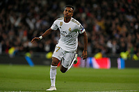 Real Madrid CF's Rodrygo Goes celebrates after scoring a goal during UEFA Champions League match, groups between Real Madrid and Galatasaray SK at Santiago Bernabeu Stadium in Madrid, Spain. November, Wednesday 06, 2019.(ALTERPHOTOS/Manu R.B.)<br /> Champions League 2019/2020  <br /> Real Madrid - Galatasaray<br /> Foto Alterphotos / Insidefoto <br /> ITALY ONLY