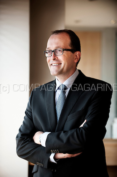 Xavier Bocquet , head of estate planning from the private banking company Puilaetco Dewaay (Belgium, 25/06/2014)