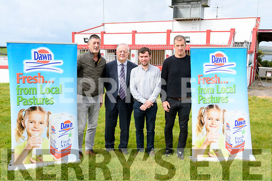 Denis Murphy (Dingle Races secretary), John O'Sullivan (sponsor, Dawn), Daniel McCarthy (Dingle Races treasurer) and Colm Sayers (Dingle Races chairman) launching the Dingle Races on Tuesday morning.