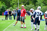 June 7, 2017: New England Patriots quarterback Tom Brady (12) takes part in the New England Patriots mini camp held on the practice field at Gillette Stadium, in Foxborough, Massachusetts. Eric Canha/CSM