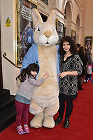 Shappi Khorsandi attends the Celebrity Gala Performance of 'Where Is Peter Rabbit?' at The Theatre Royal in London, England. Tuesday 9th April 2019.<br /> CAP/JWP<br /> ©JWP/Capital Pictures