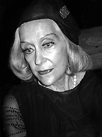Gloria Swanson 1977<br /> Photo By Adam Scull/PHOTOlink.net