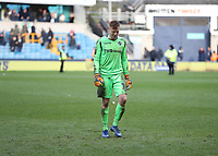 17th March 2019, The Den, London, England; The Emirates FA Cup, quarter final, Millwall versus Brighton and Hove Albion; A dejected Goalkeeper David Martin of Millwall walking back in to the tunnel after full time as Brighton & Hove Albion book a place into the FA Cup Semi Final