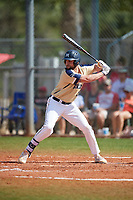 Mount St. Mary's Mountaineers designated hitter Pat Daly (42) bats during a game against the Ball State Cardinals on March 9, 2019 at North Charlotte Regional Park in Port Charlotte, Florida.  Ball State defeated Mount St. Mary's 12-9.  (Mike Janes/Four Seam Images)