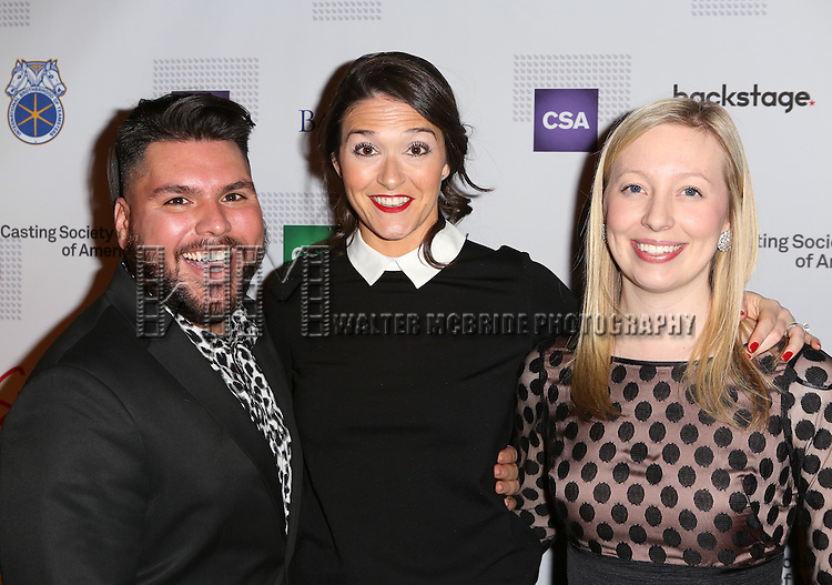 Cesar Roche, Susanne Scheel and Abby Bradie-Dalton attends the 30th Annual Artios Awards at 42 WEST on January 22, 2015 in New York City.